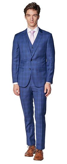 Giovanni Bresciani Blue/Black Check Suit