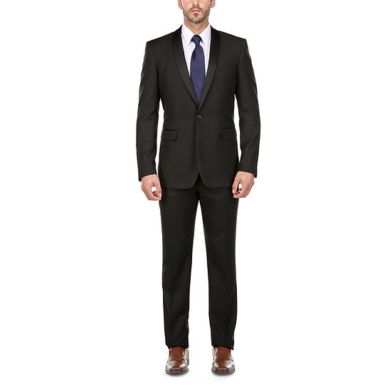 VDP Collection Men's Slim Suit (Black)