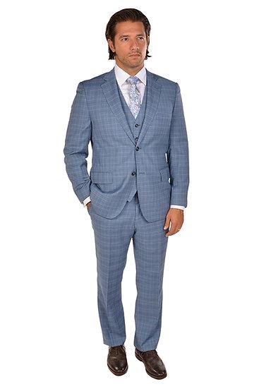 Sartoria Tosi Blue Prince of Wales 3 Piece Suit