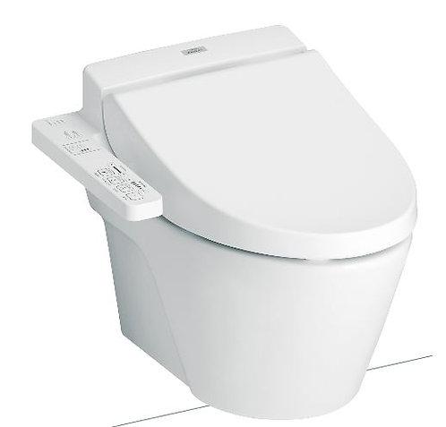 Inodoro de colgar 822 + Washlet C100 + Cisterna 120cm + Tecla Plateada