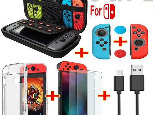 6 IN 1 Nintendo Switch Accessories Carrying Case Bag