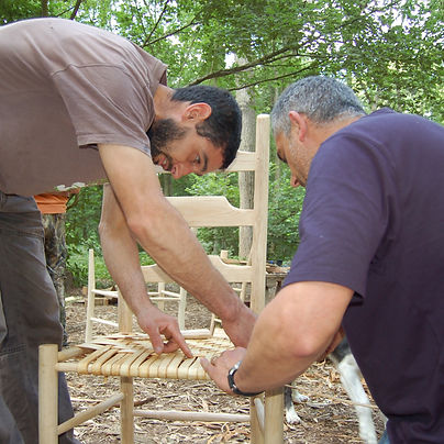 Chair making course, green woodworking course, Hampshire