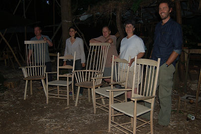 Green woodworking course hampshire, chair making courses
