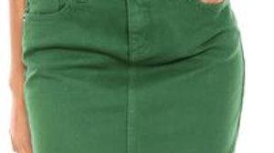 Mini saia - verde jeans