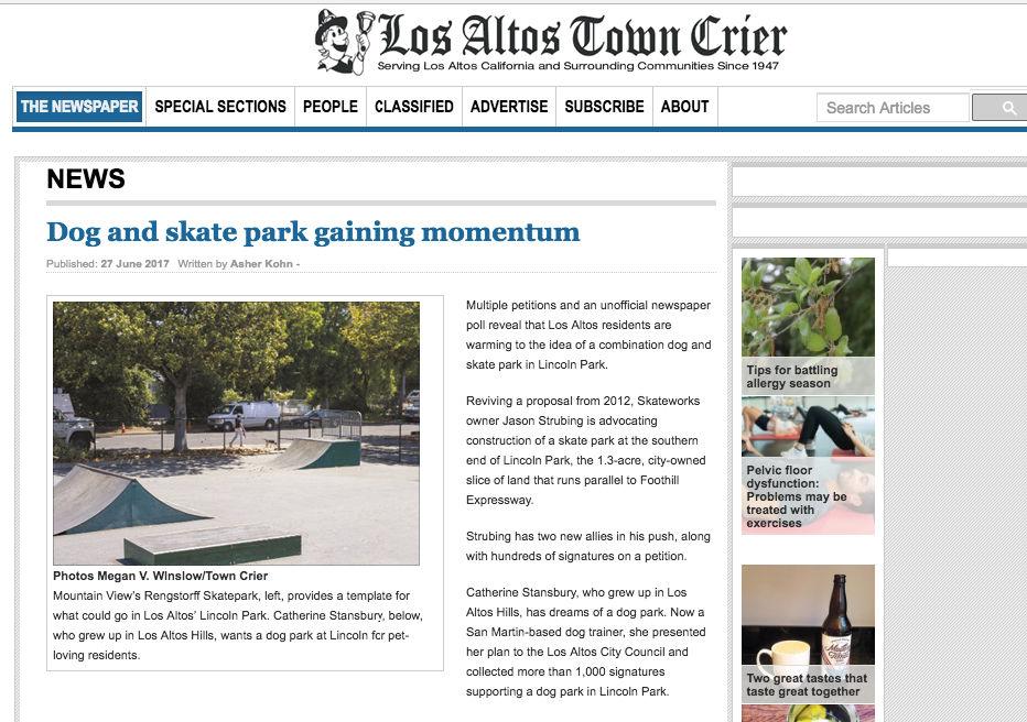 Skateworks Advocating For Los Altos Skate Park Featured In Los Altos