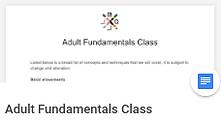 Adult Fundamentals, BJJ