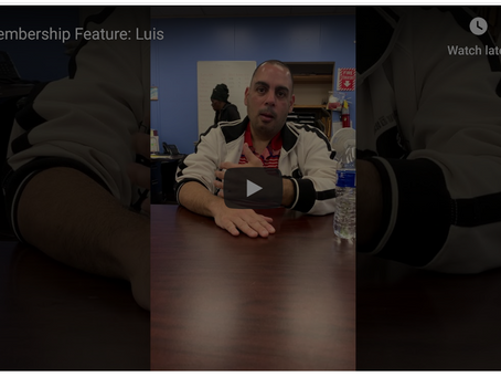 Meet Luis, a Lighthouse member who highly recommends being active within the program