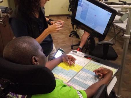 Pyramid member tries eye gaze technology to maximize communication