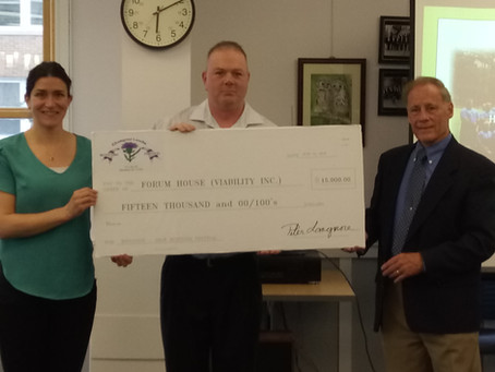 Forum House accepts generous donation