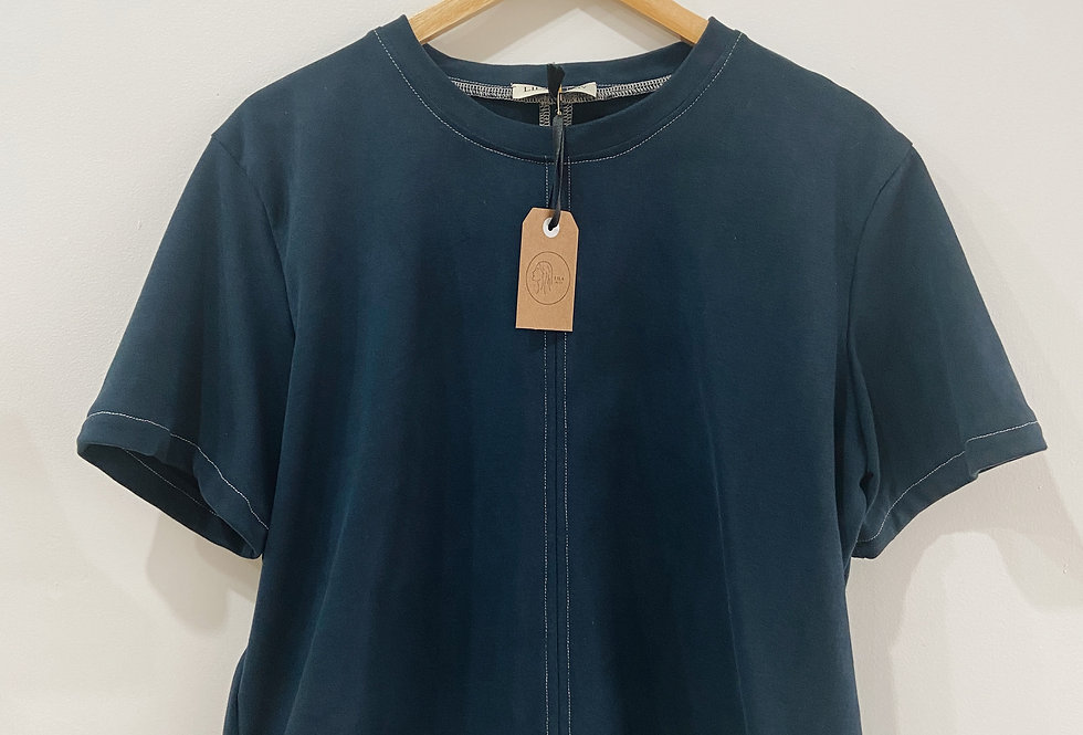 Seam Tee with Contrast Stitching