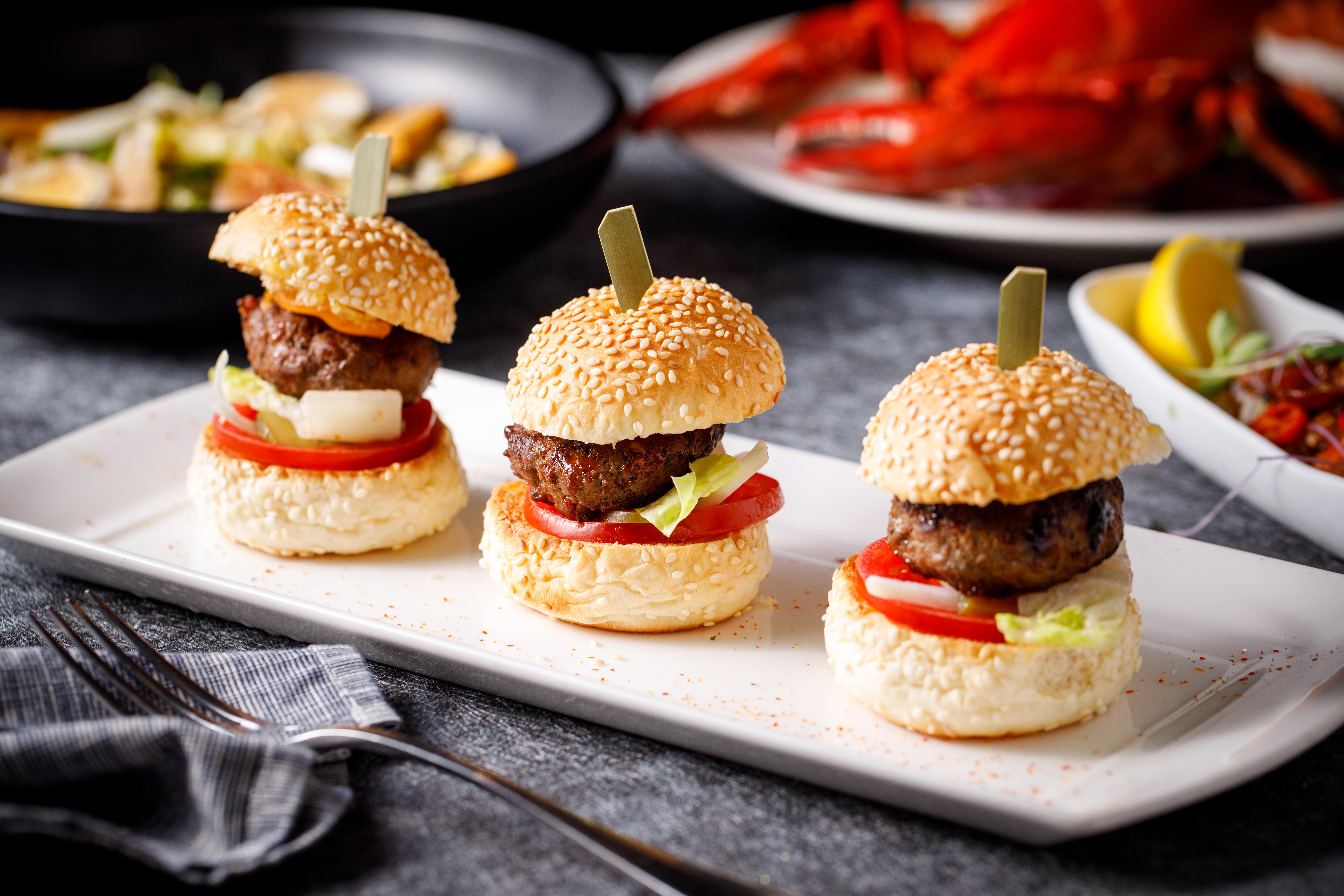 A- 牛肉小漢堡