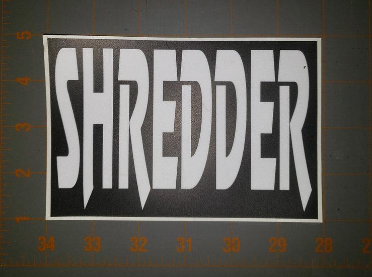 Shredder Sticker