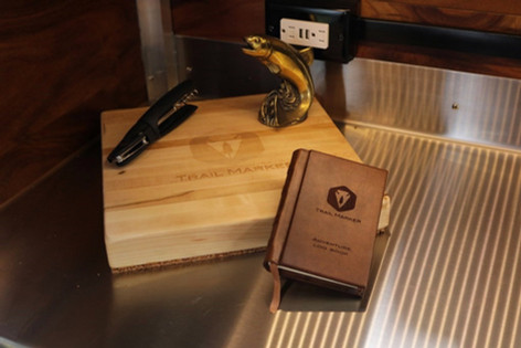 Trail Marker log book and cutting board