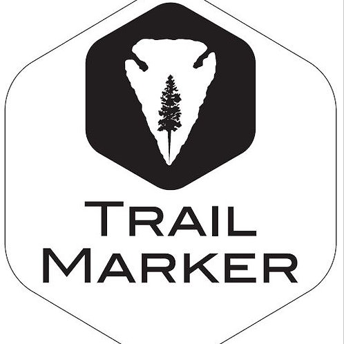 Trail Marker hex shape  Vinyl Cut Decal