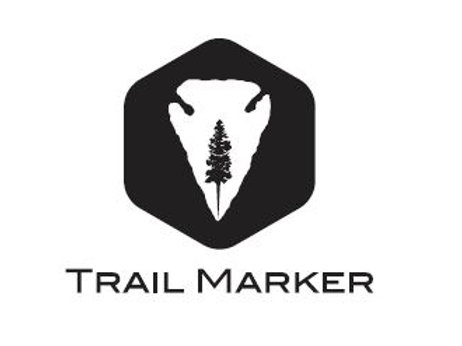 small font Trail Marker Square Vinyl Cut Decal