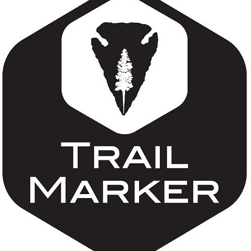 Trail Marker hex shape  Vinyl Cut Decal