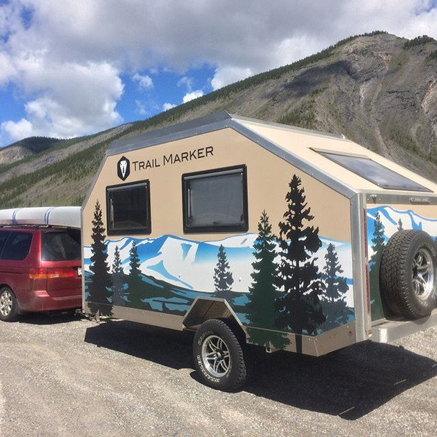 Our friends Hank and Mary made it to their home in #alaska with their new #trailmarker  More to come in this beauty on our web site this wee