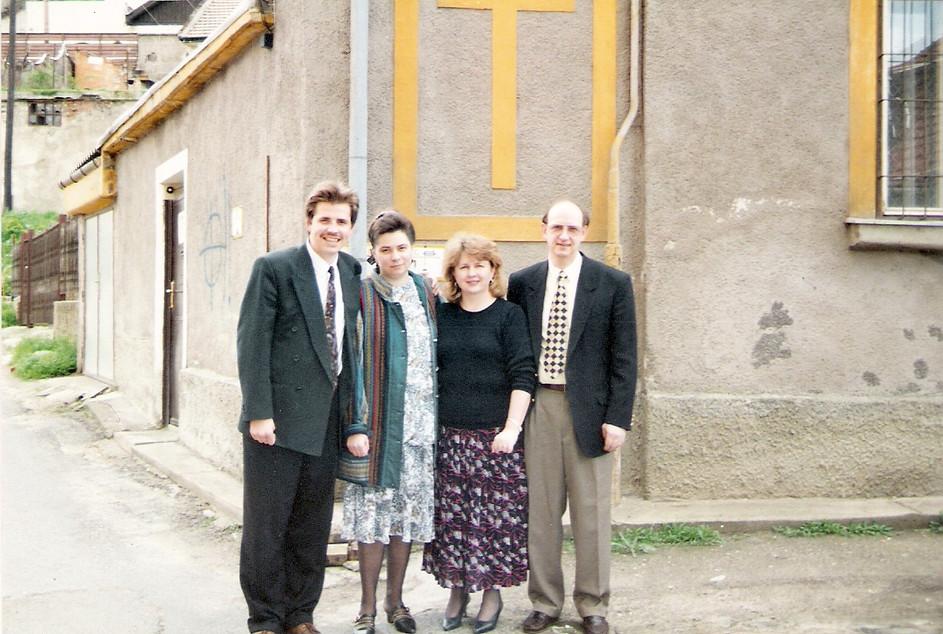 Tamás Pásztor és felesége, valamint LaVere Soper és felesége, Elizabeth