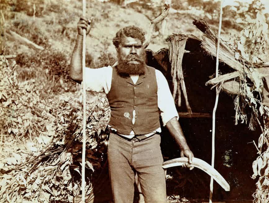Australian Stockman With Boomerang