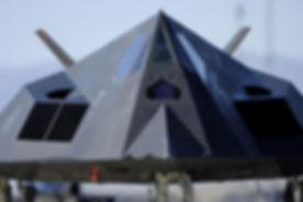 F-117 Nighthawk taxis on the runway befo