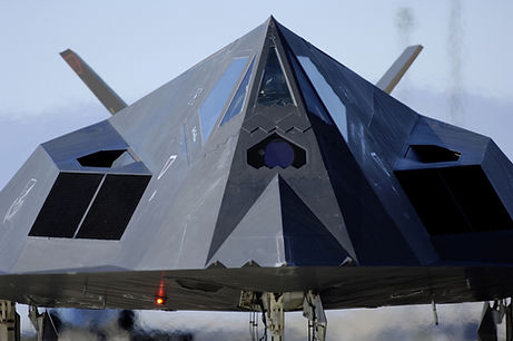F-117 Nighthawk taxis on the runway befo