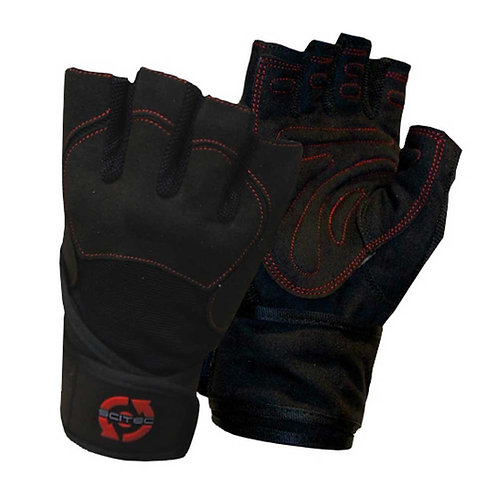 SCITEC NUTRITION RED LEATHER STYLE GLOVE