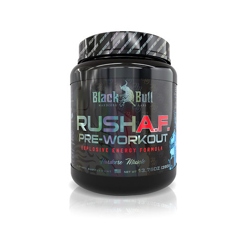 BLACK BULL RUSH A.F. PRE-WORKOUT 13.76 OZ (390G)