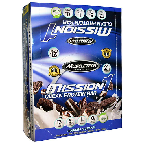 Muscletech Mission1 Protein Bar - 1 Bar (60 g)