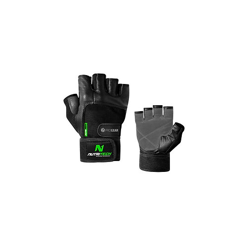 Nutritech Lifting Gloves with wrist straps Black
