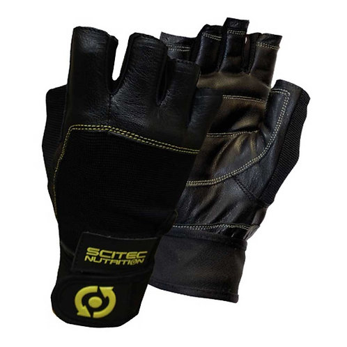 SCITEC NUTRITION YELLOW LEATHER STYLE GLOVE