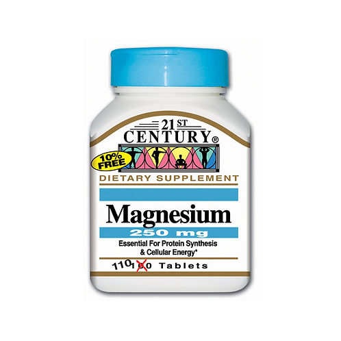 21st Century Magnesium 250 mg 110 Tablets