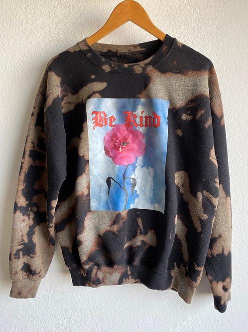 Bleach Tie Dye Be Kind sweater