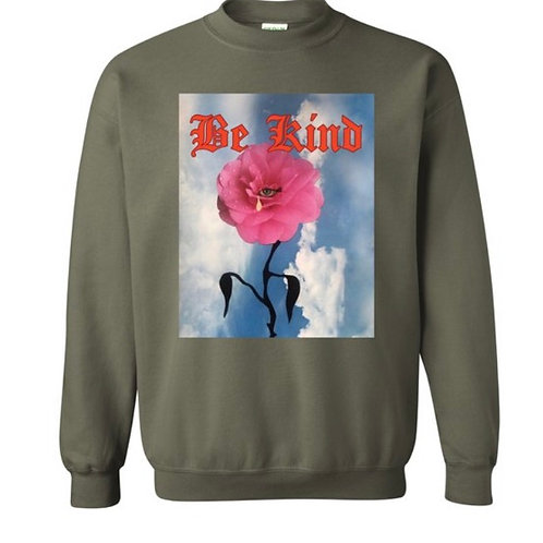 Be Kind Sweater army green