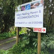 Abby's Healing Haven Sign
