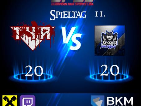 Liga Spiel vs xPozed Anomaly