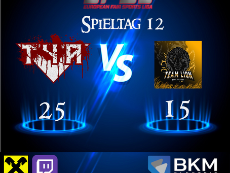 Spieltag 12 vs Stay Classy Team Lion