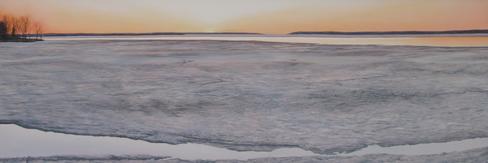 Receding Ice 1 -Dyptic