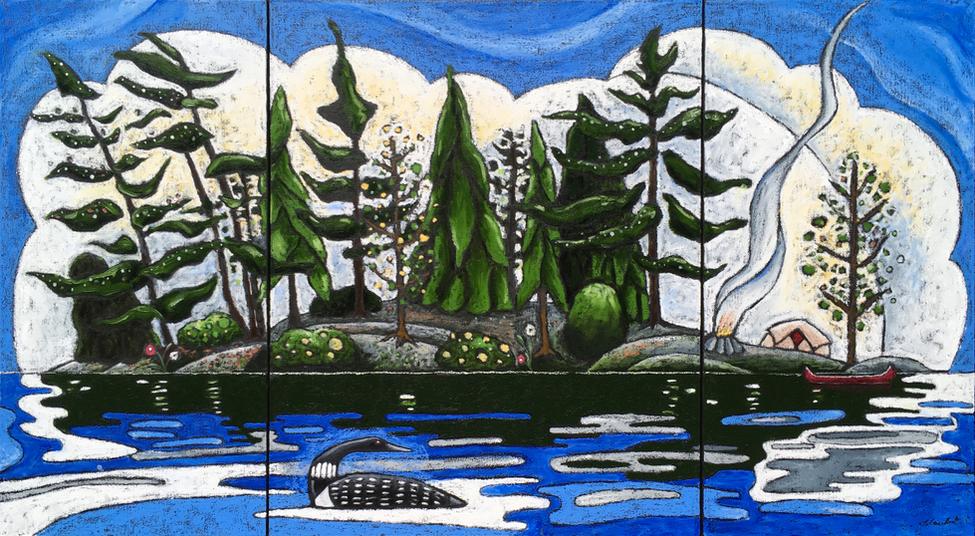 Triptych: Northern Summer Day