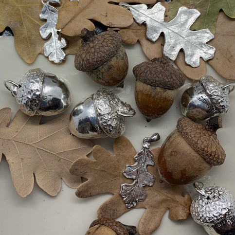 Oaks Leaves & Acorns - In Nature and in Silver
