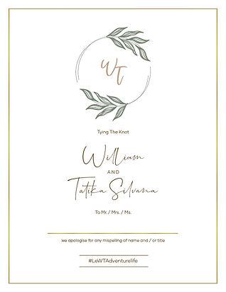 Tatika and William Wedding Invitation v5