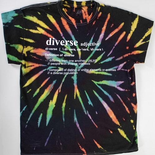 Tie Dye T-Shirt Mixed Black