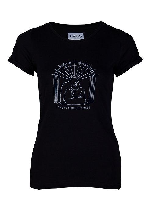 koszulka, femi-shirt UADO the future is female czarna