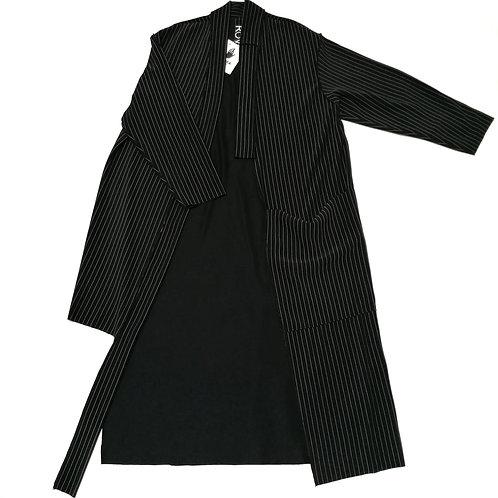 narzutka, kimono ROWK caly paski, duza kieszen, rekaw dlugi