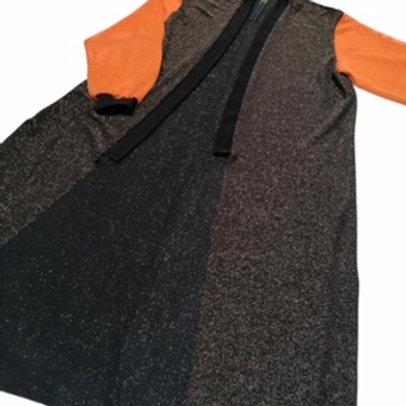 kimono, narzutka ROWK pomaranczowe rekawy, dlugie rekawy, zlota