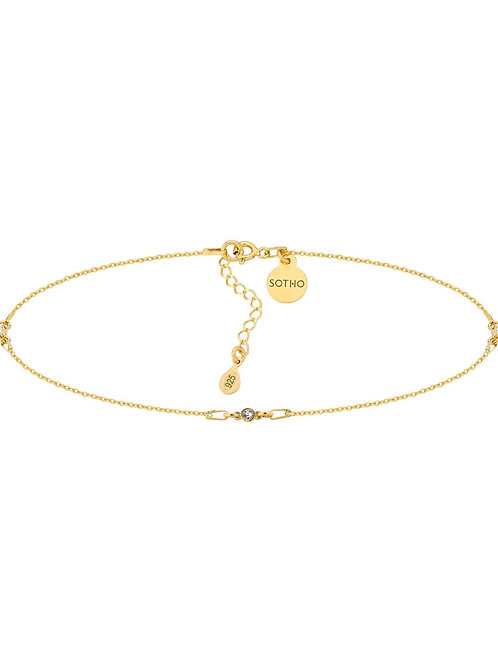 Złoty Choker z Kryształkami