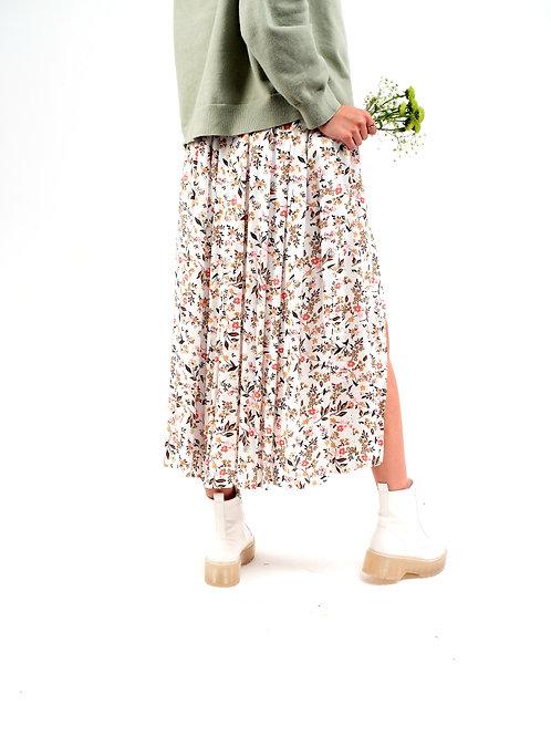 FLORA maxi spódnica w drobne kwiaty