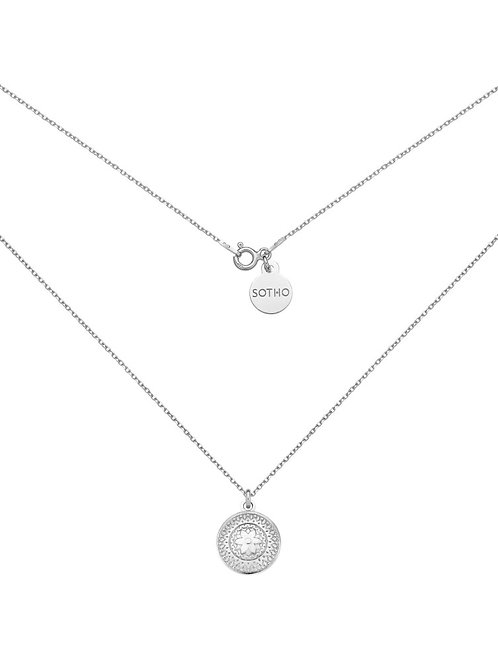 Srebrny Naszyjnik z Medalionem