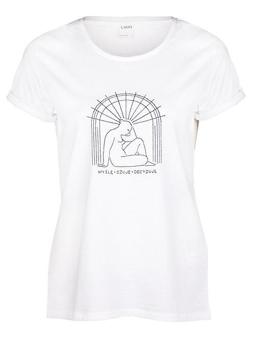 koszulka, femi-shirt UADO myślę, czuję, decyduje