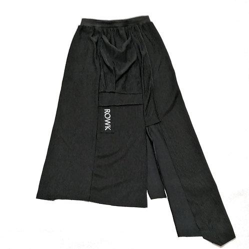 spodnica ROWK za kolano, czarna, na zamek, duza kieszen