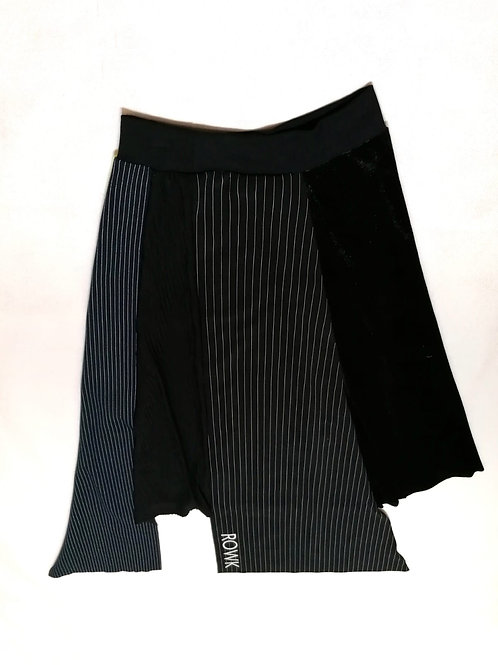 spodnica ROWK czarna, grafit, paski, poldluga